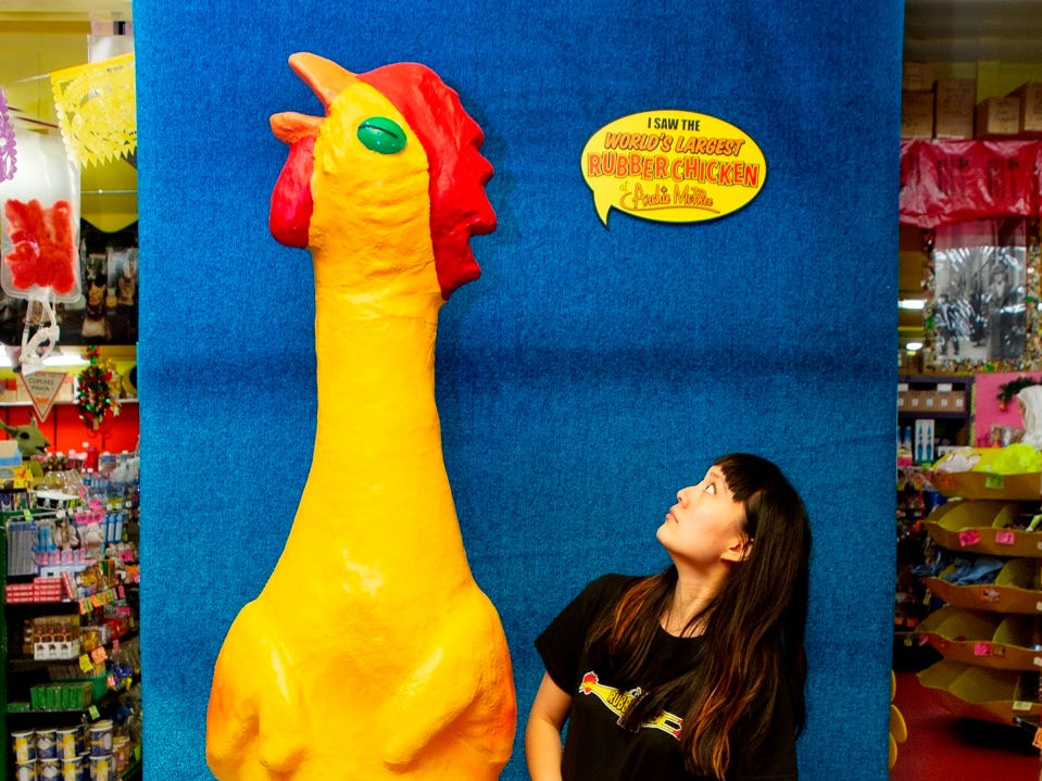 Wacky doesn't even begin to describe Archie McPhee, a Seattle institution that's home to a rubber chicken museum and sells everything from fake cat vomit to librarian action figures.