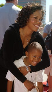 Regina King and her son, Ian, in 2003.