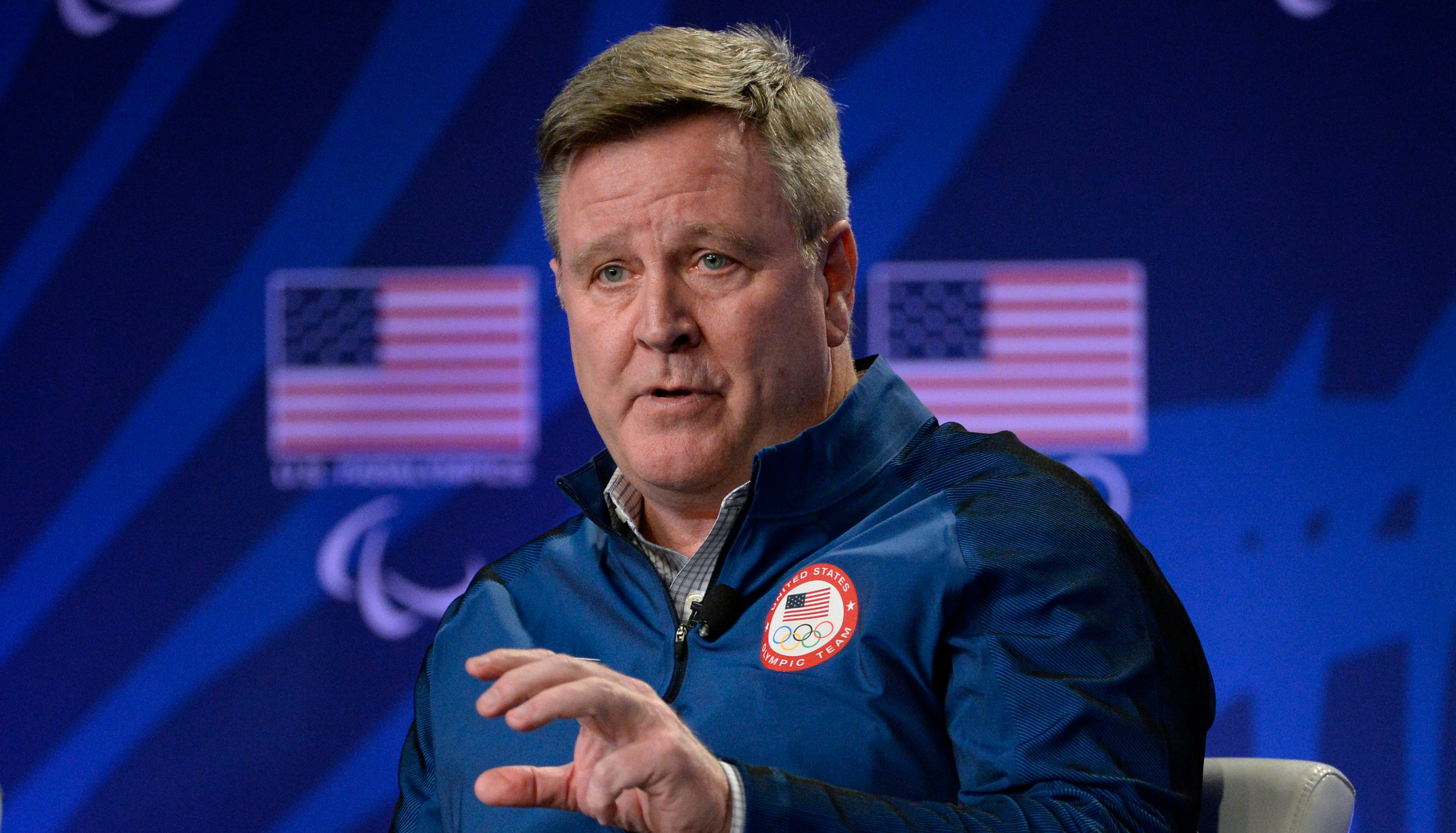 "USOC CEO Scott Blackmun resigned Feb. 28, citing ""ongoing health issues resulting from prostate cancer."""