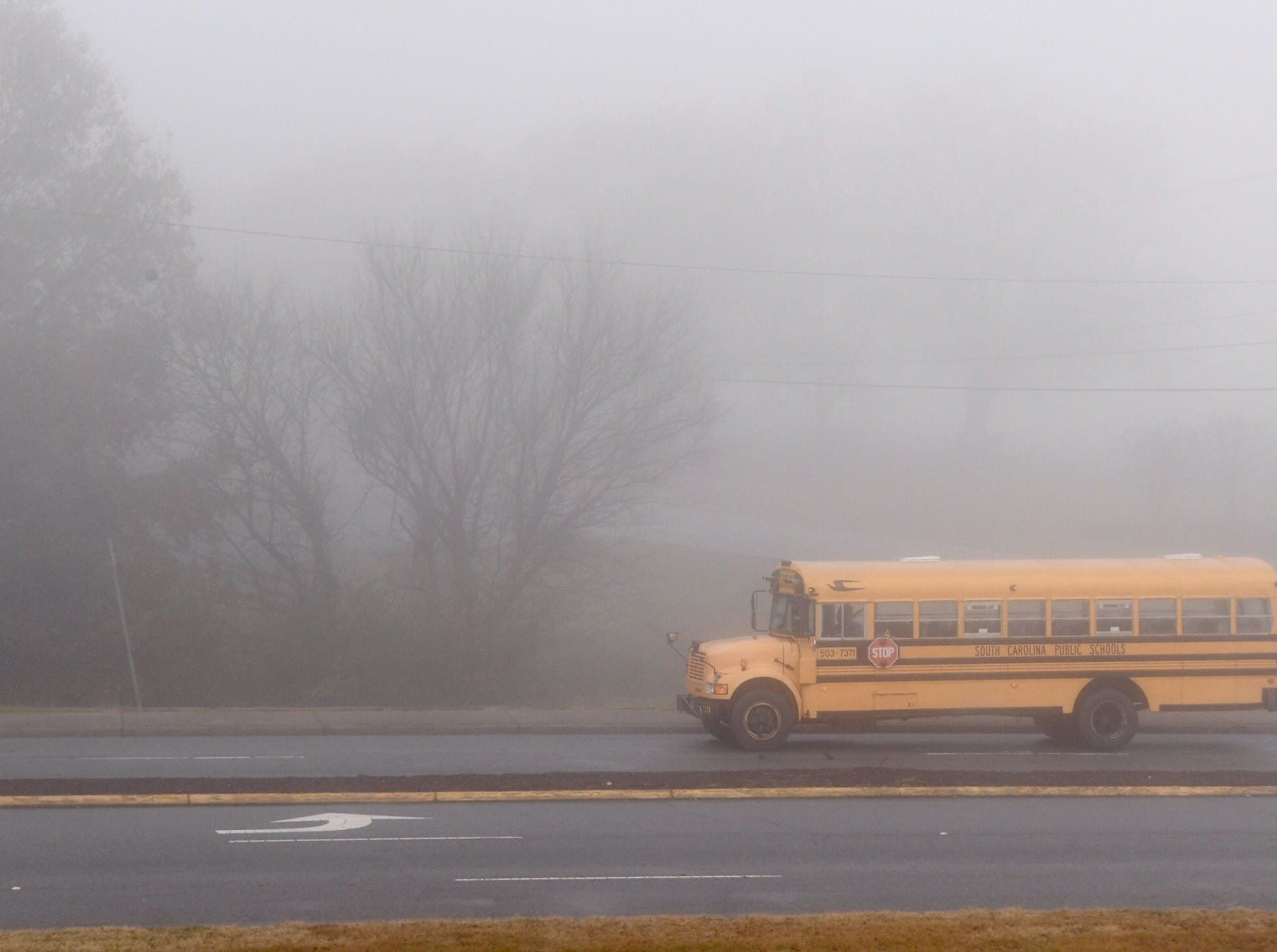 Anderson School District Five on a two-hour delay making rounds near Whitehall Elementary in Anderson on Tuesday, Dec. 11, 2018.