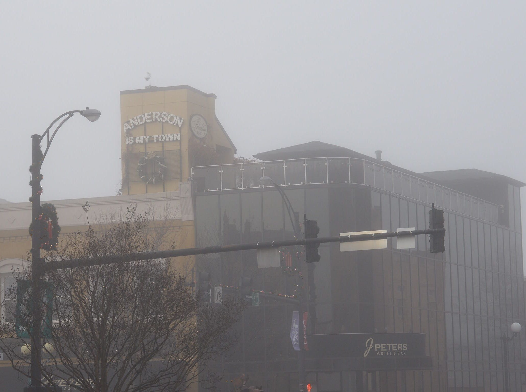The building that houses J Peters restaurant in downtown Anderson on Tuesday, Dec. 11, 2018.