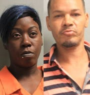 Sherwanda Nicole McClain (left) and Mark Jerome Downs