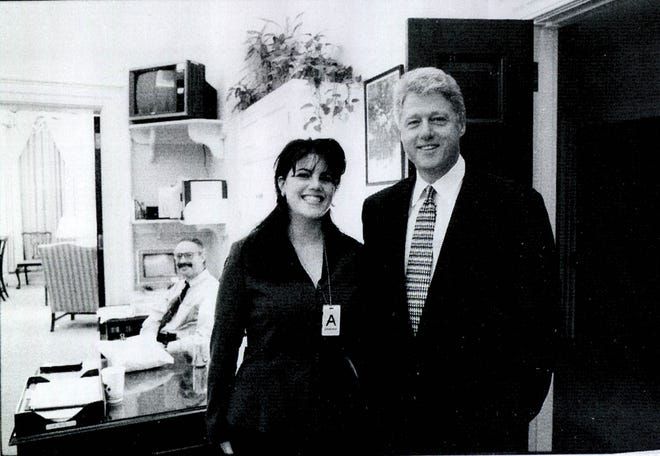 December marks the 20th anniversary of former President Bill Clinton's impeachment. Clinton was only the second president in American history to be impeached after Andrew Johnson. Clinton is pictured here with then-White House intern, Monica Lewinsky.