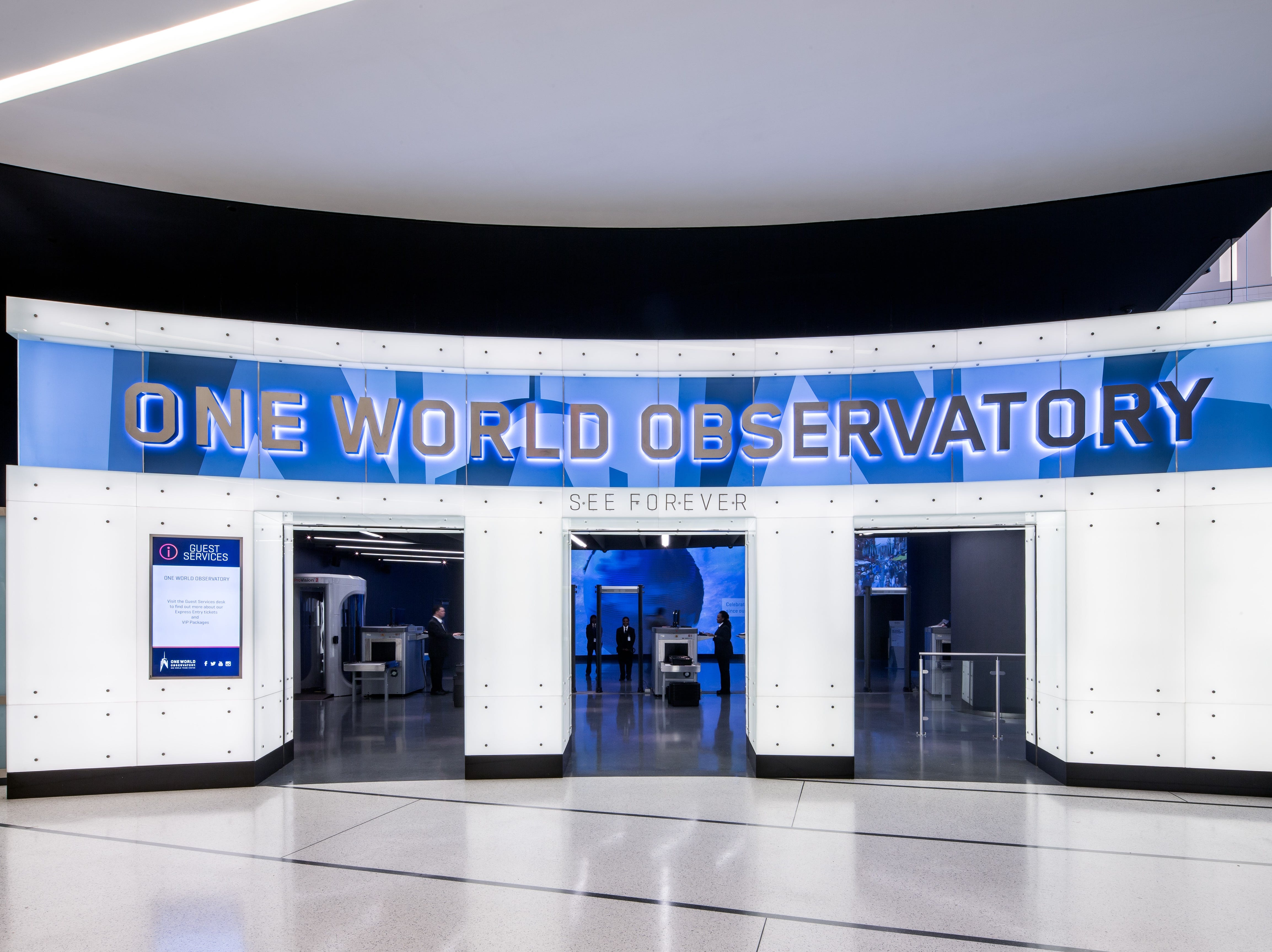 Here's where you enter to get to One World Observatory.