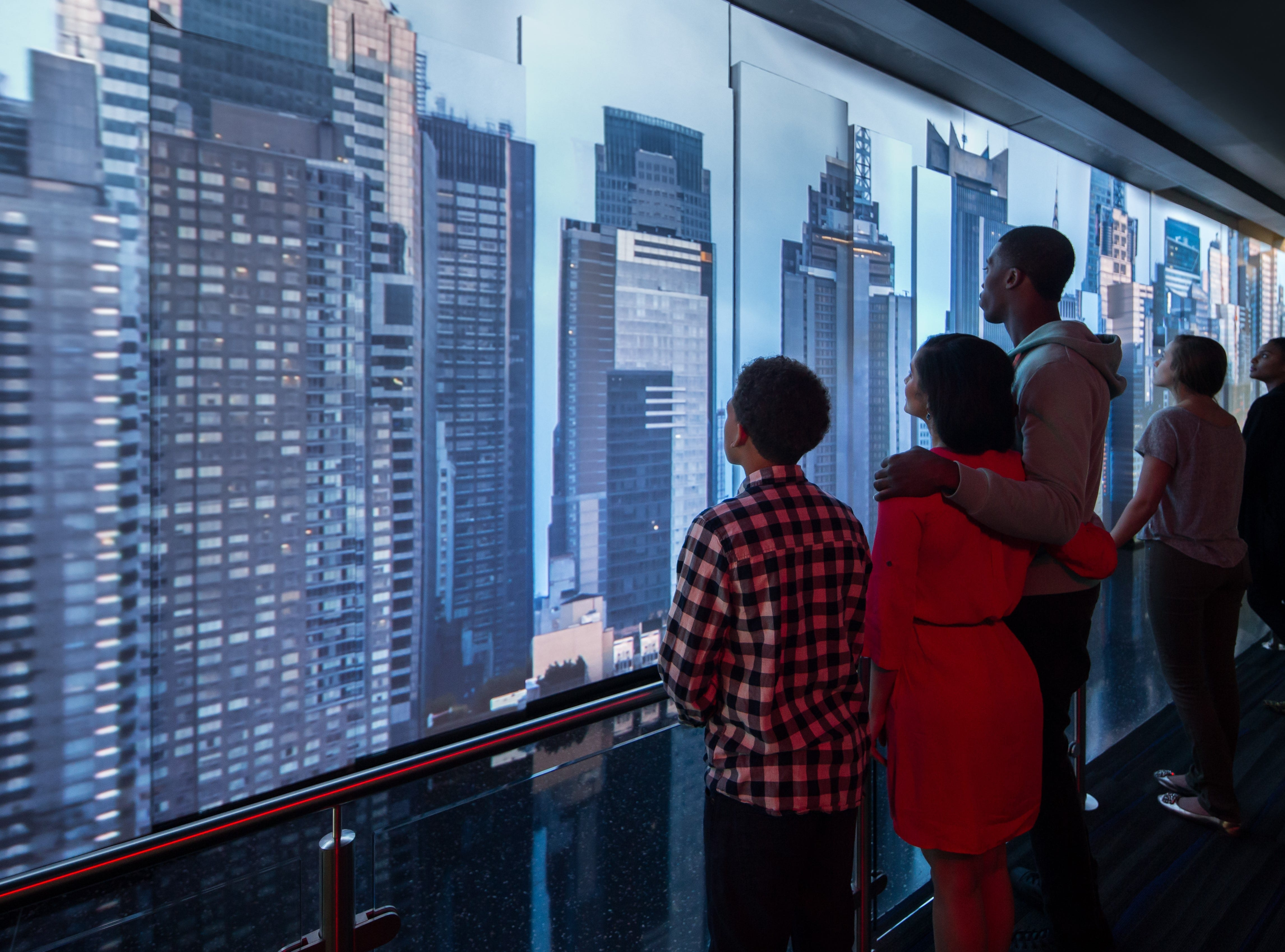 """The """"See Forever Theater"""" presents an animated look at the city before revealing the actual view from the observatory."""