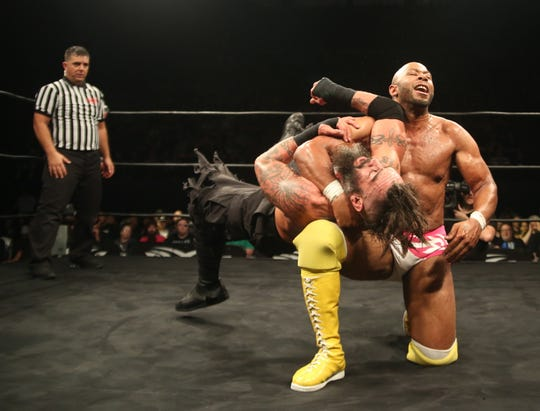 Ring of Honor star Jay Lethal, right, is a native of Elizabeth.