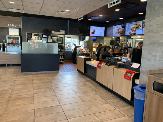 Renovations at McDonald's includes new counters and menu boards.