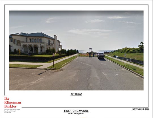 This is how Neptune Avenue looks now, in plans submitted to Deal borough officials.