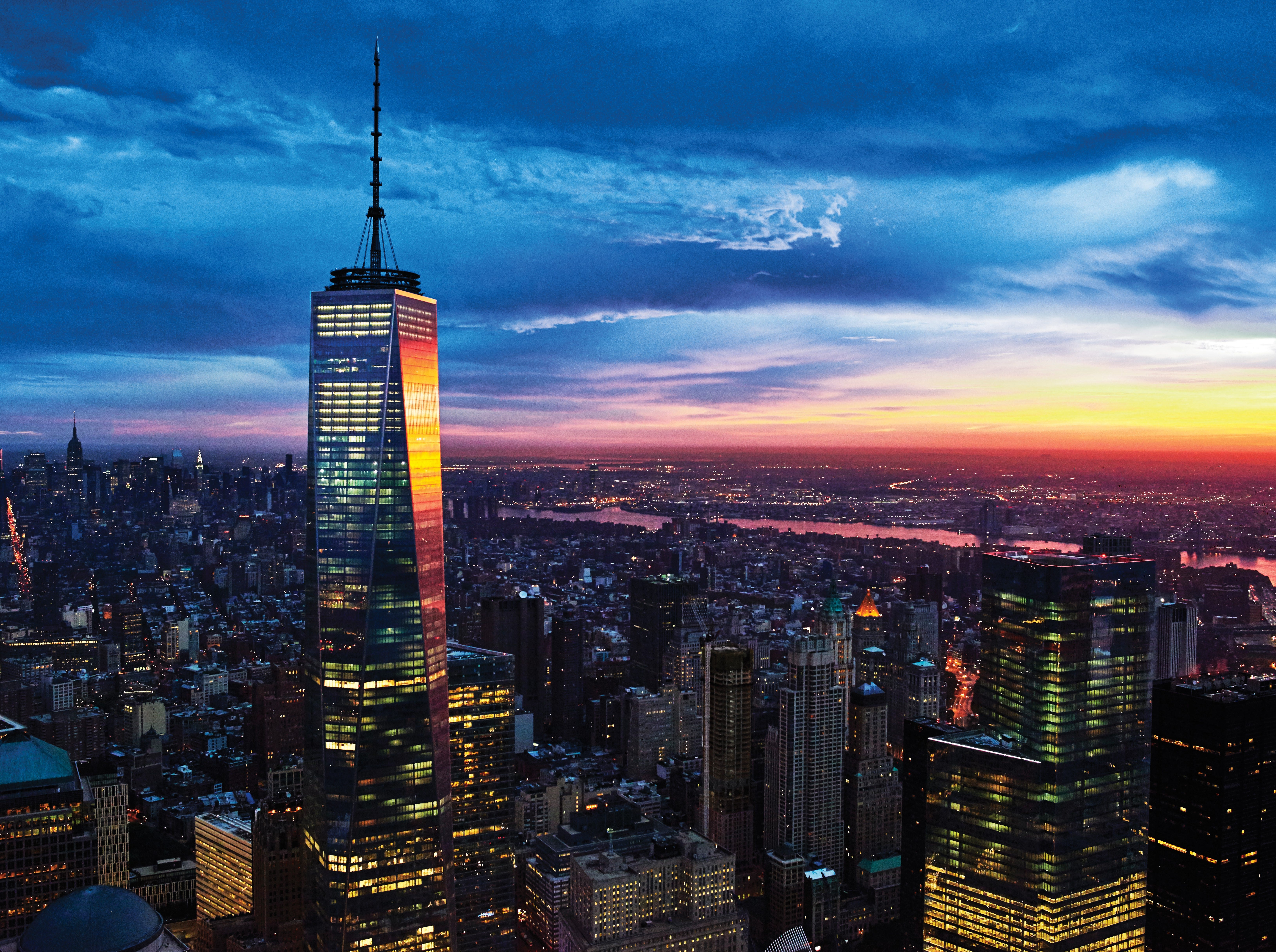 One World Trade Center is the focal point of lower Manhattan.