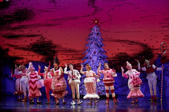 """The cast of """"The Grinch Who Stole Christmas,"""" which hits Madison Square Garden from Dec. 13 to 30."""