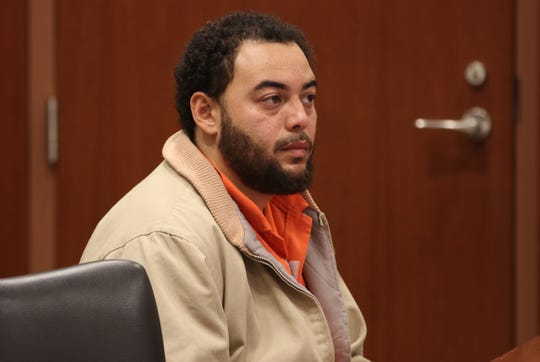 Defendant David Lamar appears during a detention hearing before Superior Court Judge Anthony Massi on charges which include vehicular manslaughter.  Trenton, NJTuesday, December 11, 2018