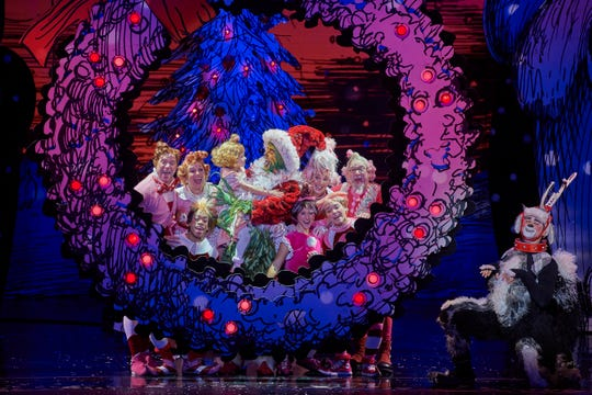 """Gavin Lee and the cast of """"The Grinch Who Stole Christmas."""""""