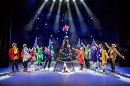 A Charlie Brown Christmas Live On Stage Cast By Tree
