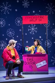 "Lucy is ready to dispense advice but for a price in the stage musical version of ""A Charlie Brown Christmas."" It's on stage Wednesday at the Abilene Convention Center."