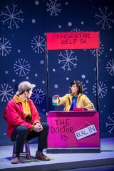 """Lucy is ready to dispense advice but for a price in the stage musical version of """"A Charlie Brown Christmas."""" It's on stage Wednesday at the Abilene Convention Center."""