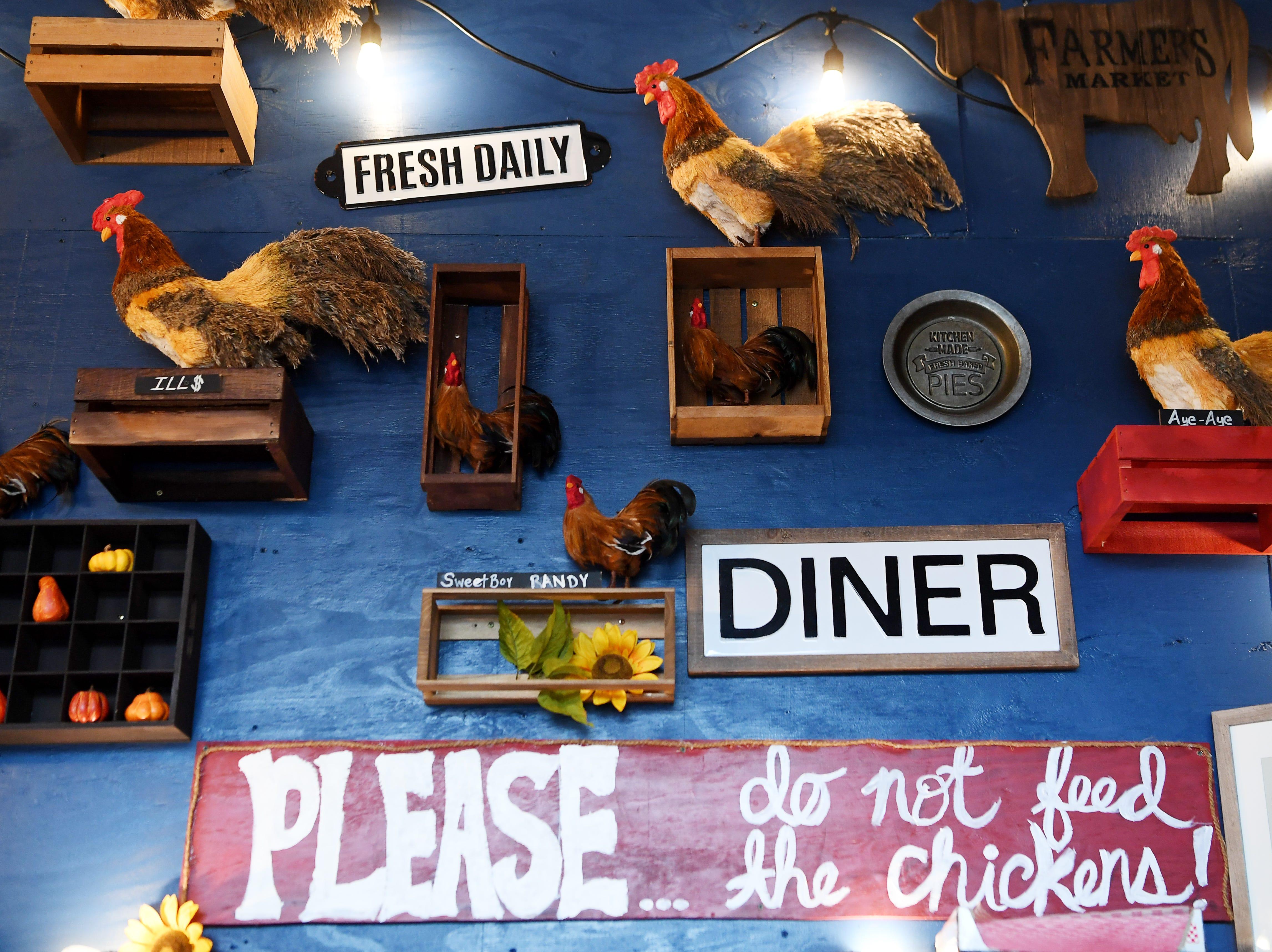 Scenes from Henrietta's Poultry Shoppe in Asheville Dec. 7, 2018.