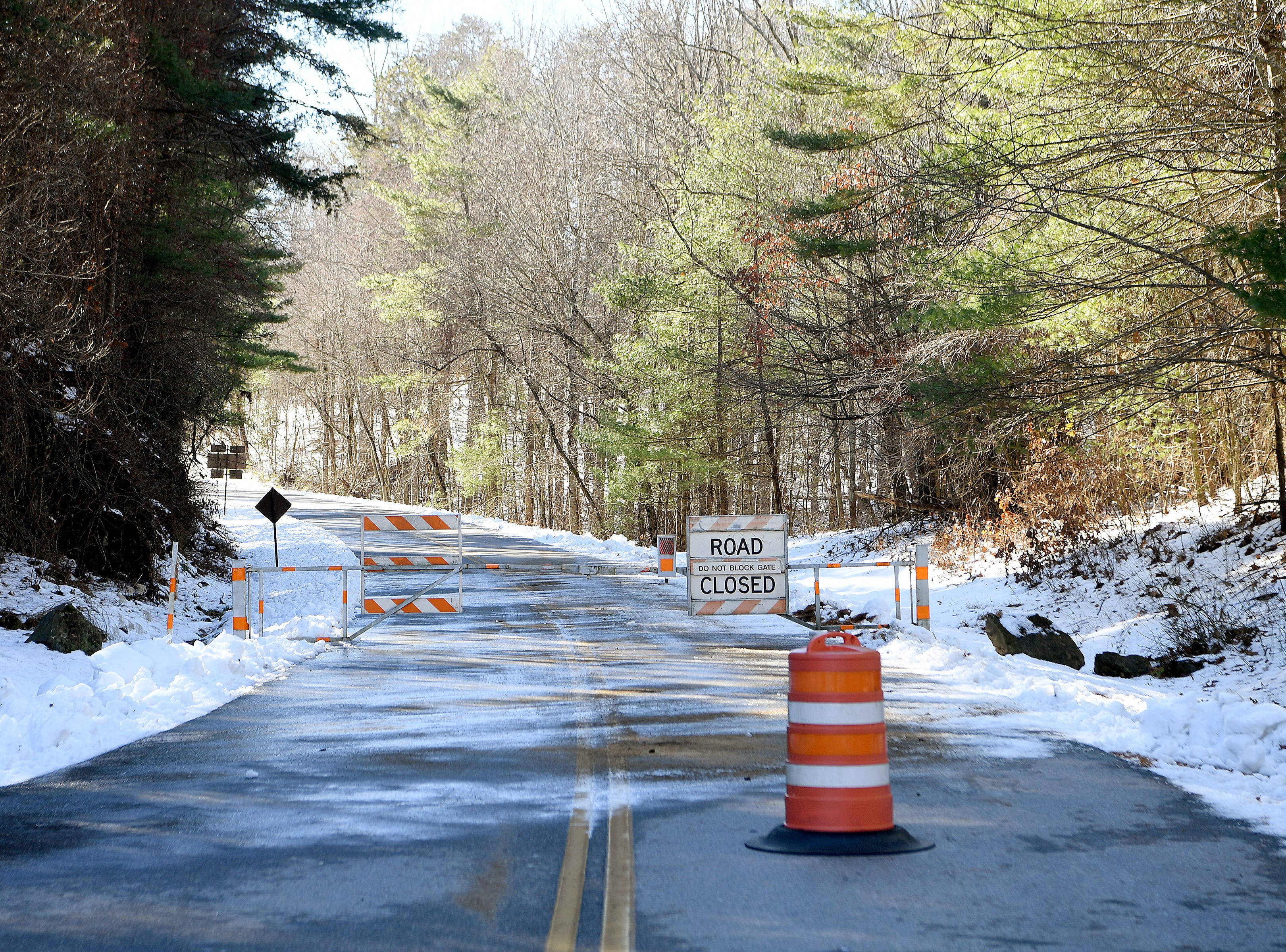 Most of the Blue Ridge Parkway was still closed on Dec. 11, 2018 after weekend snows closed the road to vehicle traffic.