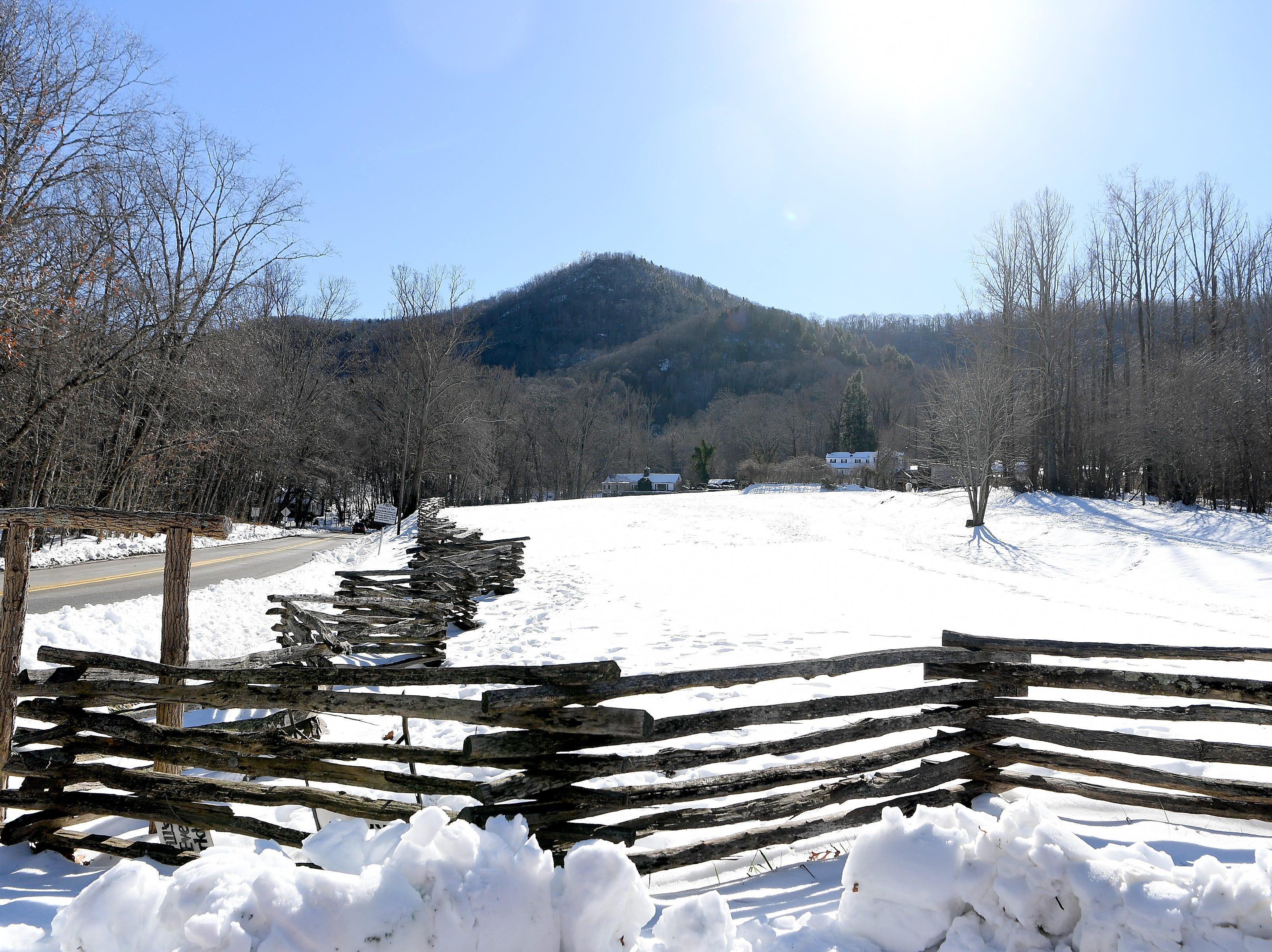 The sun melts snowy fields in Fairview on Dec. 11, 2018.