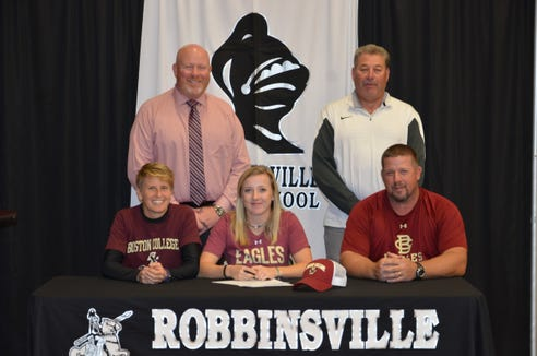 After Virginia Tech pulled its scholarship offer, Robbinsville senior Abigail Knight signed with Boston College.