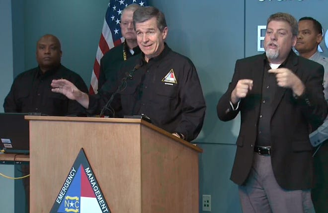 North Carolina Gov. Roy Cooper said Tuesday the worst of Winter Storm Diego is over, but urged residents to remain vigilant of black ice and other linger issues caused by the storm.
