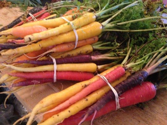Multi-colored carrots