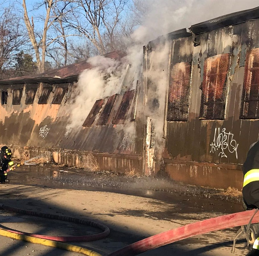 Asheville warehouse catches fire in area behind Target, Dick's Sporting Goods