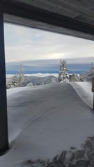 Mount Mitchell State Park received about 33 inches of snow during winter storm Diego, with snowdrifts up to 6 feet high.