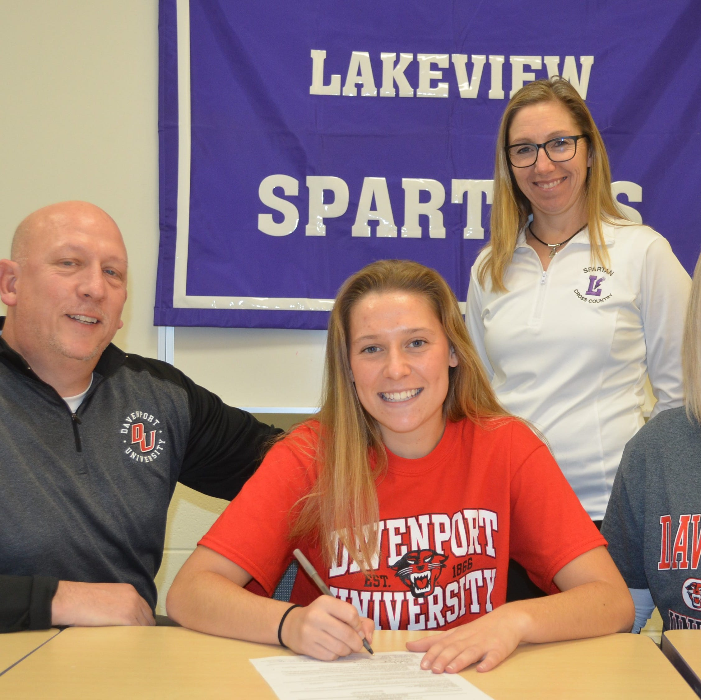 Lakeview's Evans signs to run track at Davenport University
