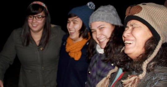 The Goheen girls sharing a light moment amid their ordeal