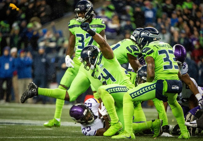 Seahawks linebacker Bobby Wagner was involved in a series of big plays during Monday's 21-7 win over the Vikings, including stopping Latavius Murray on a fourth-and-one during the third quarter.