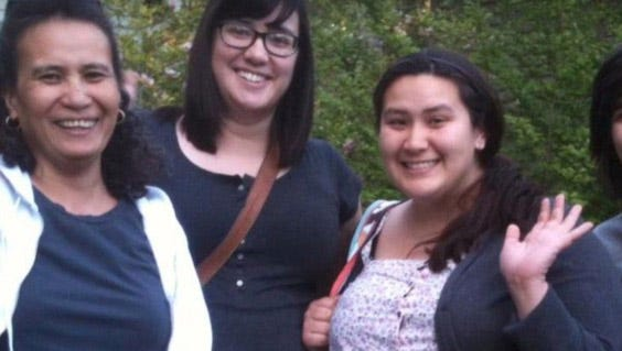 Beth Goheen with her three daughters, Katie, 29, Tessie, 30, and Becky, 28. The girls have all experienced multiple bouts of cancer due to a genetic mutation passed from their late father Paul Goheen. Katie is terminally ill and Beth requested a visa for her niece from the Philippines to travel to the U.S. and provide help and support for the family. The U.S. Embassy in Manila denied the visa Dec. 7, saying Rosminda Galanto had not made a convincing case she would return to her home country.