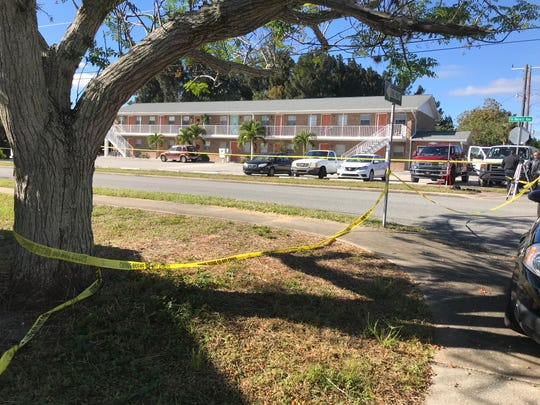 Cocoa detectives investigate an officer-involved shooting that took place Tuesday morning at Forrest Avenue and Olive Street.