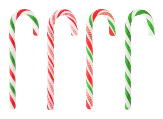 Christmas Candy Canes With Path