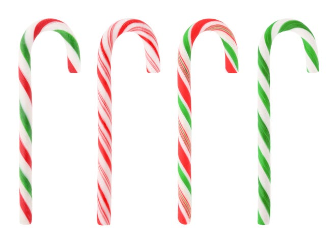 When it comes to candy canes, Leslie Selage, a member of the Facebook group 321 Flavor: Where Brevard Eats, is a purist. They should be red and white, not green.