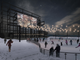 Skating and outdoor movie shows are included as options for the old waterfront power plant, beyond its partial demolition. This rendering was created by Lincoln Brown Illustration for the city's Community and Economic Development Office and presented Dec. 10, 2018.