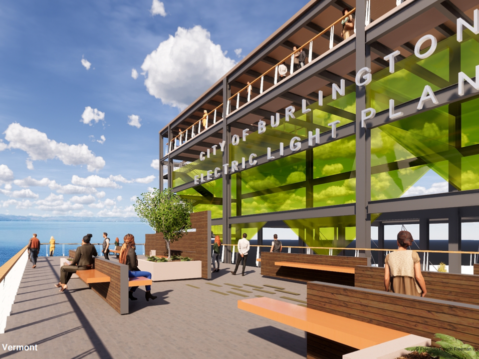 Modest embellishments to the waterfront Moran Plant after it is partially dismantled are seen in this rendering created by Freeman French Freeman for the city's Community and Economic Development Office and presented Dec. 10, 2018.