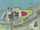 The waterfront Moran plant on Burlington's waterfront (outlined in purple) would become part of a park system in the area, as seen in this illustration by Freeman French Freeman and the city's Community and Economic Development Office and presented Dec. 10, 2018.