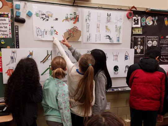 Fifth graders at Colerain Elementary, adjacent to Colerain Park, helped brainstorm ideas about what the new playground to replace Megaland should include.