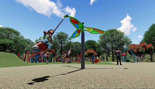 Renderings of the new playground to replace Megaland at Colerain Park