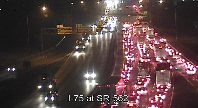 NB I-75 is closed at Towne Street due to a crash. As many as eight vehicles may be involved, including a semi tractor-trailer, Cincinnati police said.