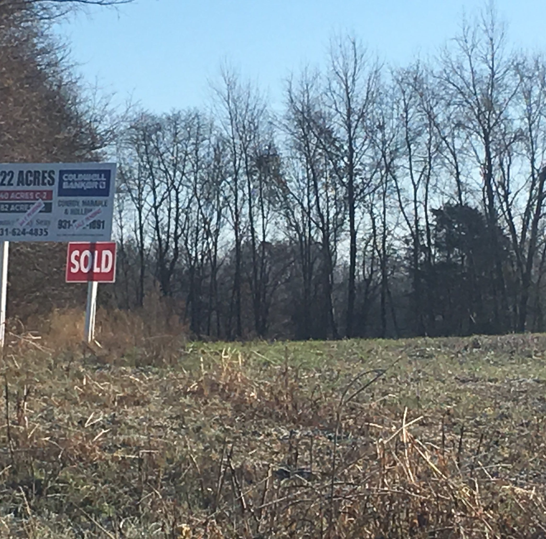 Rezoning near Exit 11, Boyd's Pumpkin Patch, likely put off by pending land sale