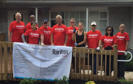 Volunteers from the Raritan Corporation, as part their Better Communities Volunteer project, recently donated time at four Alternatives properties and also raised $1,680 through a company-wide employee fundraiser to offset some of the costs associated with these projects. Alternatives, Inc. is a community-based non-profit organization dedicated to helping individuals with special needs support themselves, gain self-determination and achieve the highest degree of independence possible within their communities. For more information, visit www.alternativesinc.org or call Alternatives at 908-685-1444, ext. 226.