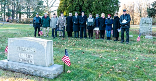 On Friday, Dec. 7, the North Brunswick community gathered at Elmwood Cemetery to commemorate Pearl Harbor Remembrance Day.The ceremony was held at the gravesite of Robert Friedberg who was a survivor at Pearl Harbor and later in 1944 received the Bronze Star in Europe while fighting at the Battle of the Bulge.