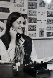 The first female editor of the Daily Targum.