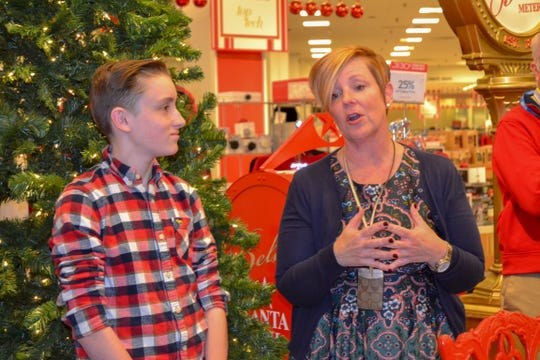 A ninth-grader at Old Bridge High School, AJ Silvestri, collected 175,987 letters for Make-A-Wish through the annual Macy's BELIEVE campaign. AJ Silvestri with his mom, Kerryann Silvestri.