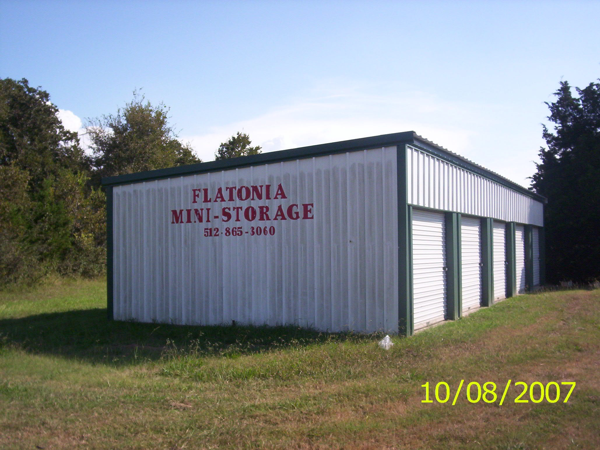 Tommy and Eddie Tipton own this mini storage commercial site near Flatonia, Texas. It's market value is $22,820.