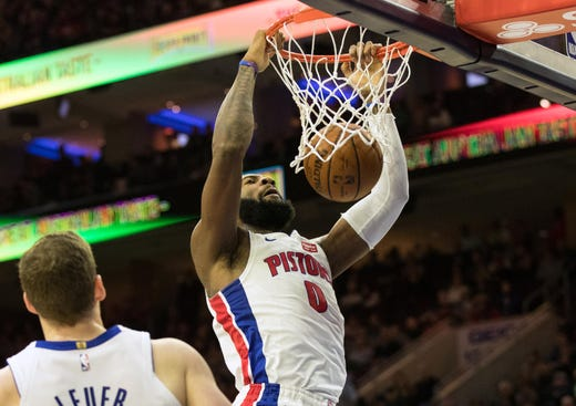 3 Pistons are in NBA's Top 50 in efficiency, contributing ...  |Andre Drummond Pistons Dunk