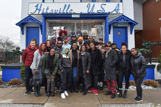 Motown staff and artists flew in to pay a visit to Hitsville USA, Detroit leading into the Motown 60th anniversary in 2019. Ethiopia Habtemariam, President Motown Records and Robin Terry, Chairwoman and CEO Motown Museum are in the front row center of the photo.