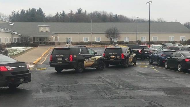 Authorities on scene after an 8-year-old boy was run over by his mother during school drop-off Tuesday morning.
