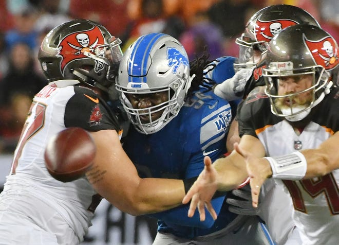 Defensive end Ziggy Ansah is fourth in Lions' history with 48 career sacks.